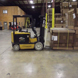 Loading a forklift at the Mt. Pleasant facility